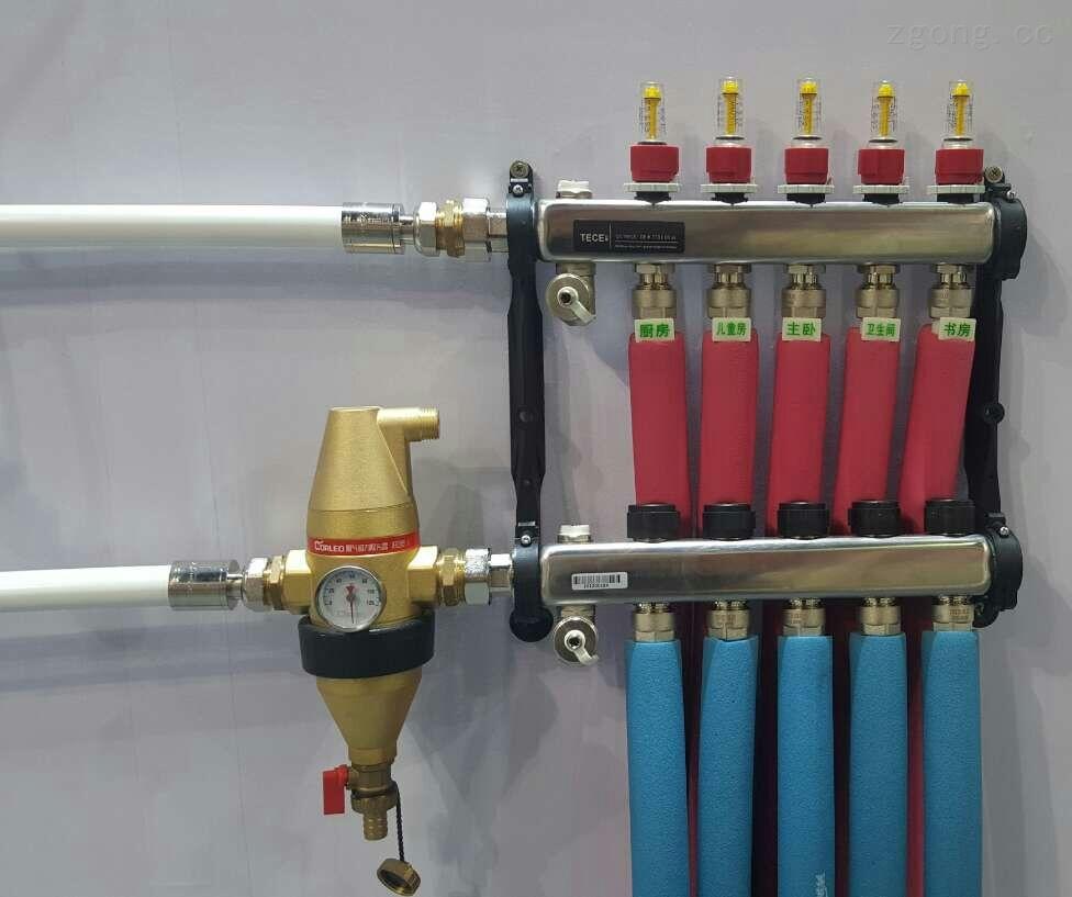 螺旋微泡排气阀,螺旋脱气除污器,地暖过滤器,地暖除污器,壁挂炉过滤器图片